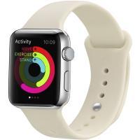 Ремешок UWatch Silicone Strap для Apple Watch 42/44 mm Antique White