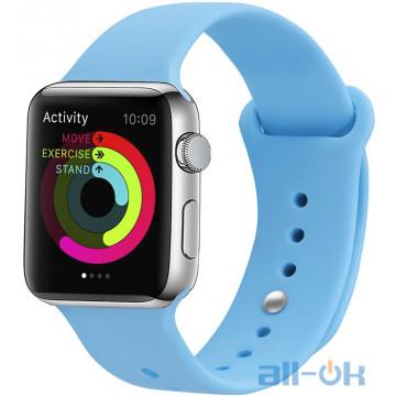 Ремешок UWatch Silicone Strap для Apple Watch 42/44 mm Blue