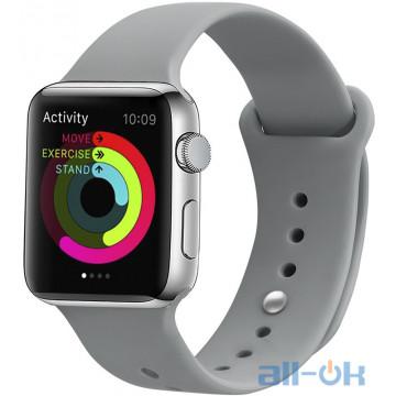 Ремешок UWatch Silicone Strap для Apple Watch 42/44 mm Concrete