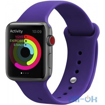Ремешок UWatch Silicone Strap для Apple Watch 42/44 mm  Deep Purple
