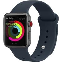 Ремешок UWatch Silicone Strap для Apple Watch 42/44 mm Midnight Blue
