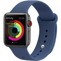 Ремешок UWatch Silicone Strap для Apple Watch 42/44 mm Ocean Blue