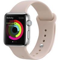 Ремешок UWatch Silicone Strap для Apple Watch 42/44 mm Pink Sand