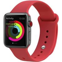 Ремешок UWatch Silicone Strap для Apple Watch 42/44 mm Red