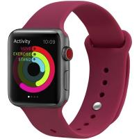Ремешок UWatch Silicone Strap для Apple Watch 42/44 mm  Rose Red