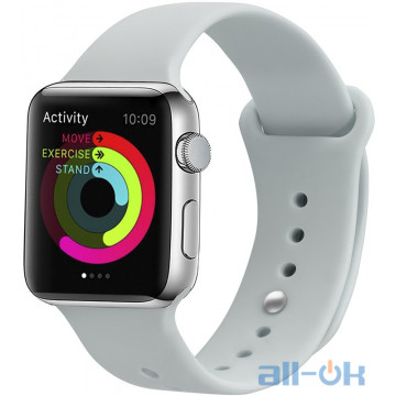 Ремешок UWatch Silicone Strap для Apple Watch 42/44 mm Soft White