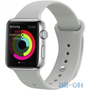 Ремешок UWatch Silicone Strap для Apple Watch 42/44 mm Stone
