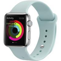 Ремешок UWatch Silicone Strap для Apple Watch 42/44 mm Turquoise
