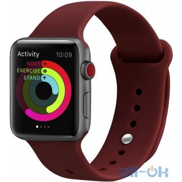 Ремешок UWatch Silicone Strap для Apple Watch 42/44 mm Wine Red