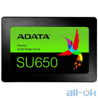 SSD накопичувач ADATA Ultimate SU650 120 GB (ASU650SS-120GT-R) UA UCRF
