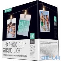 Лінійна гірлянда ColorWay 40 LED 4.2м, с прищiпками для фото (CW-LCP-40L42B)