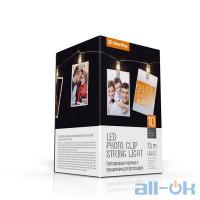 Лінійна гірлянда ColorWay 10 LED, 1.5м, с прищепками для фото (CW-LCP-10L15B)