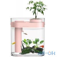 Аквариум с оборудованием: ландшафтным набором и цветочным горшком Xiaomi HFJH Amphibian ECO-Aquarium Aquaponics Youth Edition Pink HF-JHYGZH002