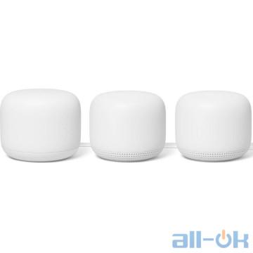 Беспроводной маршрутизатор (роутер) Google Nest Wifi Router and Two Point Snow (GA00823-US)