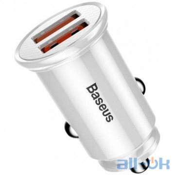 Автомобильное зарядное устройство Baseus Car Charger Mini Quick Charge 3.0 2xUSB White (CCALL-YD02)