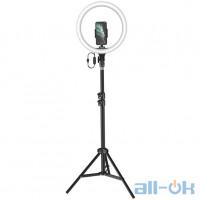 Держатель с кольцевым освещением Baseus Live Stream Holder-floor Stand (12-inch Light Ring) (CRZB12-B01)