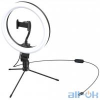 Держатель с кольцевым освещением Baseus Live Stream Holder-floor Stand (10-inch Light Ring) (CRZB10-A01)