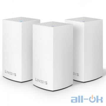 Беспроводной маршрутизатор (роутер) Linksys Velop Intelligent Mesh WiFi System 3-Pack White (VLP0103)