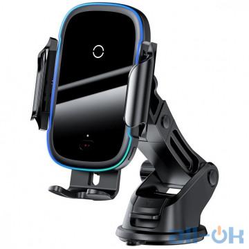 Автомобильный держатель - беспроводная зарядка Baseus Wireless Charger Qi Light Electric 15W Black (WXHW03-01)