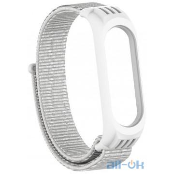 Ремешок TPU Nylon для Xiaomi Mi Band 5 White