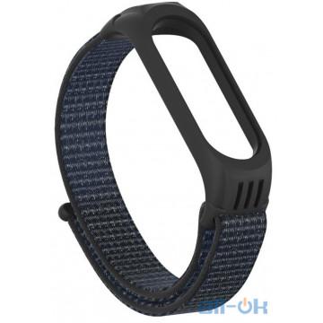 Ремешок TPU Nylon для Xiaomi Mi Band 5 Black