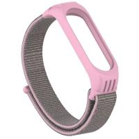 Ремешок TPU Nylon для Xiaomi Mi Band 5 Pink