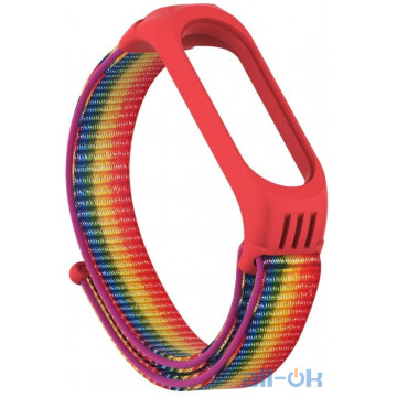 Ремешок TPU Nylon для Xiaomi Mi Band 5 Gradient rainbow