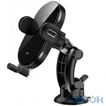 Автомобильный держатель для смартфона USAMS Automatic Coil Induction Holder Center Console 15W Black (US-CD131)