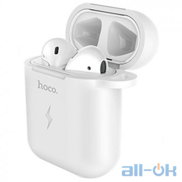 Кейс-зарядка QI Hoco CW22 для Apple AirPods White