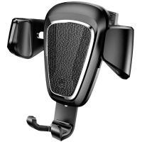 Автомобильный держатель для смартфона Baseus Car Holder Gravity Metal Black (SUYL-B01)