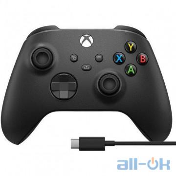 Геймпад Microsoft Xbox Series X | S Wireless Controller Carbon Black + USB Cable (XOA-0010)