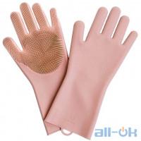 Перчатки хозяйственные Xiaomi Jordan-Judy Silicone Gloves (Pink)