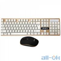 Комплект (клавіатура + миша) Jedel RWS7000 White/Black
