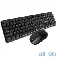 Комплект (клавіатура + миша) JEDEL WS630 Black