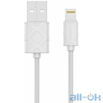 Кабель Lightning Baseus USB Cable to Lightning Yaven 1m White (CALUN-02)