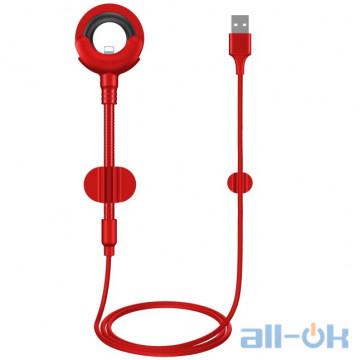 Автомобильный держатель для смартфона BASEUS O-type Car Mount Lightning Cable Red