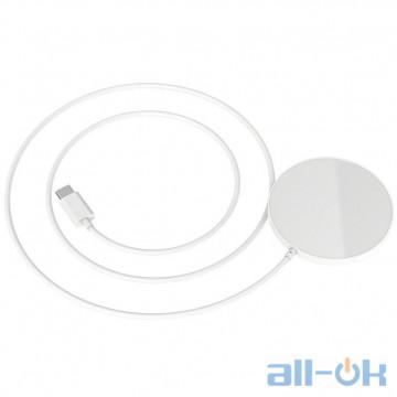 Беспроводное зарядное устройство HOCO Original Series Magnetic Wireless Fast Charger CW28 White