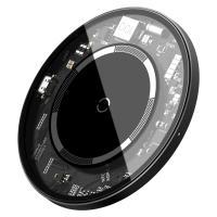 Беспроводное зарядное устройство BASEUS Simple Magnetic Wireless Charger (WXJK-E02) Transparent-Black