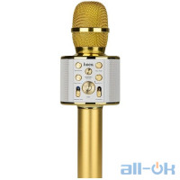 Караоке микрофон HOCO BK3 Gold