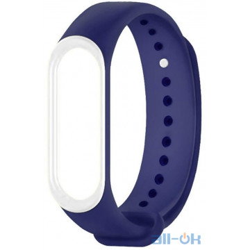 Ремешок для Xiaomi Mi Band 3/4 Dark blue/White