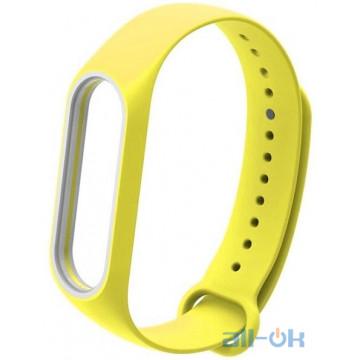Ремешок для Xiaomi Mi Band 3/4 Yellow/White