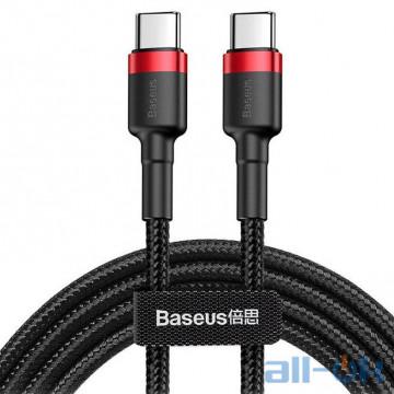 Кабель USB Type-C Baseus Cafule PD2.0 60W Flash Charging USB Type-C 20V 3A 2M Red+Black (CATKLF-H91)