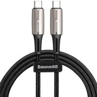 Кабель USB Type-C Baseus Cabel USB-C to USB-C Water Drop-Shaped Lamp 60W 1m Black (CATSD-J01)