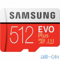 Карта пам'яті Samsung 512 GB microSDXC Class 10 UHS-I U3 EVO Plus + SD Adapter MB-MC512HA