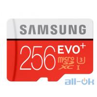 Карта пам'яті Samsung 256 GB microSDXC Class 10 UHS-I U3 EVO Plus + SD Adapter MB-MC256HA