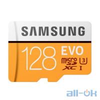 Карта пам'яті Samsung 128 GB microSDXC Class 10 UHS-I U3 EVO + SD Adapter MB-MP128GA