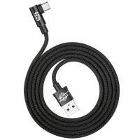 Кабель USB Type-C Baseus USB Cable to USB-C MVP Elbow 2A 1m Black (CATMVP-A01)