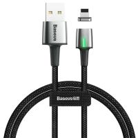 Кабель Lightning Baseus Zinc Magnetic Cable USB For iP 2.4A 1m Black (CALXC-A01)