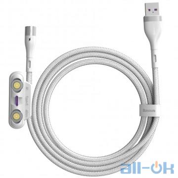 Кабель Baseus Zinc Magnetic Safe Fast Charging Data Cable (CA1T3-B02) White 1m