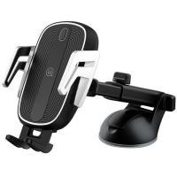 Автомобильный держатель для смартфона USAMS US-CD101 Black + Wireless Charger (CD101ZJ01)